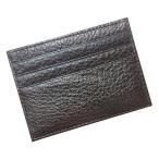メンズレディースPUレザークレジットカード財布ホルダースリムポケットケースコーヒー