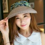 女性の太陽の帽子の顔の保護抗UVツバ広バイザー折り畳み式のキャップカーキ