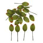 ノーブランド品  200pcs 人工絹 葉 木の葉 花束 結婚式 ランプ 装飾 造花 全6色 - グリーン