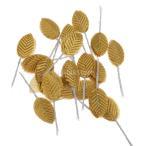 ノーブランド品 200pcs 人工絹 葉 木の葉 花束 結婚式 ランプ 装飾 造花 全6色 - ゴールド