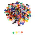 100セットT5樹脂スナップボタンの留め具は、12.4ミリメートルのミックス色をポッパー