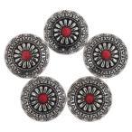 5セット スナップボタン スタッド ボタン DIY 手芸用 裁縫 アイアン 装飾 6色選べる - #1
