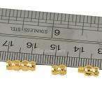 ノーブランド品 20枚 12ミリメートル 真鍮 ネジ 留め金 金色 真珠のネックレス ジュエリー作り 工芸品