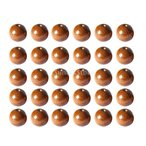 ノーブランド品 50pcs 4ミリメートル コーヒーラウンド 木製ビーズ 宝石類 ネックレス クラフト作り
