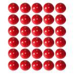 ノーブランド品 50pcs 10ミリメートル 赤い 丸い 木製のビーズ ジュエリー作り ネックレス クラフト
