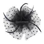 Yahoo! Yahoo!ショッピング(ヤフー ショッピング)ノーブランド品 ブライダル 魅惑的な ヘアクリップ 結婚式のかぶと ベール 羽のヘアピン 黒