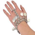 ファッション ボヘミアン コインペンダント 指輪 チェーンリンク ブレスレット ハンド ハーネス
