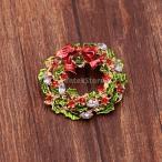 ノーブランド品 丸い花 ブローチピン パーティー ギフト ラウンド クリスタル ペンダントチャーム ブローチピン