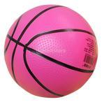 Lovoski 子供 小型 弾む バスケットボール 屋内 屋外 スポーツ ボール キッズ おもちゃ 玩具 贈り物 4色選べる - ローズレッド