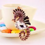 ノーブランド品 タツノオトシゴ形 ペンダント 合金 キーリング 装飾 アクセサリー ギフト 全4色  - グレー