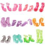 Yahoo!STKショップDovewill バービー人形対応  ドール用  素敵 PVC 製  靴  ハイヒール  フラットシューズ  ハイブーツ  サンダル  盛り合わせスタイル