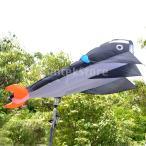 B Blesiya 贈り物 おもちゃ ポリエステル製 イルカ形 パラフォイルカイト カイト 凧 4色選ぶ - ブラック