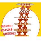マウススタックチーズタワー楽しい家族向けボードゲームキッズおもちゃ