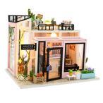 3Dパズル 1/24ドールハウス ミニチュア アートスタジオ 家具キット 組み立て 木製 手作り玩具
