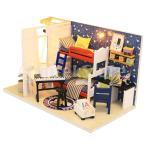 DIY ドール ハウス 手作りキット ベッドルーム 家具セット 初心者 1/24スケール 木製