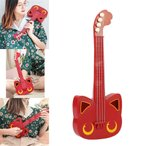 レッド ミニビギナーシンプルウクレレ キッズミニウクレレギター楽器おもちゃ