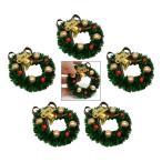 ドールハウスの装飾アクセサリー.1:12おもちゃの家ミニチュアシーンモデルクリスマス花輪ふりおもちゃ