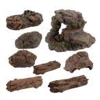 プラスチック製の石の木のトランクフェイクロックモデルジオラマ恐竜アクセサリー
