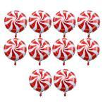 10個 箔の風船 バルーン ラウンド ロリポップ キャンディー バルーン 誕生日 パーティー 装飾 全6色選べる - 赤