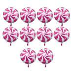 10個 箔の風船 バルーン ラウンド ロリポップ キャンディー バルーン 誕生日 パーティー 装飾 全6色選べる - ピンク