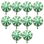 10個 箔の風船 バルーン ラウンド ロリポップ キャンディー バルーン 誕生日 パーティー 装飾 全6色選べる - 緑