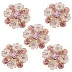 全4種選択可 5枚入りセット 縫製 ラインストーン シャンク ボタン ボタン 衣類 バッグ ヘッドバンド ギフト包装 飾り - タイプ4