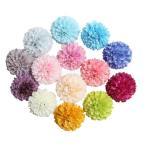 Perfk 人工菊 造花 装飾花 DIY 生き生き シルク フラワーヘッド 花束 工芸品 10個入 13色選ぶ - 色13