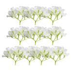 花嫁の結婚式の装飾の白のための10本のシルクアジサイの花の頭