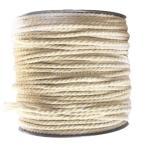 KOZEEY ツイストロープ コットンロープ 未漂白 天然白 編組コード 全3サイズ選べ - 2mm×100m