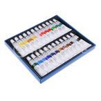 ショッピングアクリル 24色チューブアクリル塗料セット顔料アート絵画描画ツール用品
