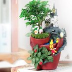 植木鉢 魔法の城 カクタス 多肉植物 可愛い 箱庭 プランター おしゃれ 観葉植物 飾り 置物