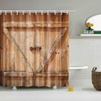 浴室カーテン バスシャワーカーテン 防水布 吊り下げ式 12フック付き