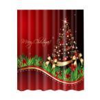 シャワーカーテン お風呂 クリスマスのデザイン クリスマスの雰囲気 12フック 全20様式選ぶ - 様式13