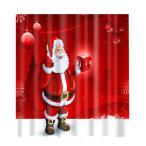 シャワーカーテン お風呂 クリスマスのデザイン クリスマスの雰囲気 12フック 全20様式選ぶ - 様式15