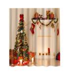 シャワーカーテン お風呂 クリスマスのデザイン クリスマスの雰囲気 12フック 全20様式選ぶ - 様式17