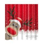 シャワーカーテン お風呂 クリスマスのデザイン クリスマスの雰囲気 12フック 全20様式選ぶ - 様式20