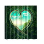 自然の風景 シャワーカーテン 防水 浴室 装飾 ポリエステル繊維 全15タイプ - タイプ5