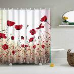 自然の風景 シャワーカーテン 防水 浴室 装飾 ポリエステル繊維 全15タイプ - タイプ6
