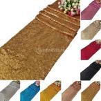 テーブルランナー 装飾 12色 グリッター ポリエステル イベント パーティー 高品質 - ライトゴールド