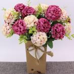 観葉植物 人工菊花 装飾用 ホーム パーティー 結婚式 6色 花束 造花  - ピンク1