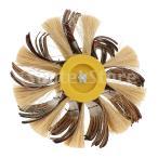 サイザルエメリー布研ぎバフ磨きブラシ黄色コアホイール