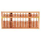 茶色 子ども用 耐久 数学学習 計算ツール 算術アバカス 13ロッド 木製ビーズ 教育玩具