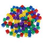 5色 約100個 スタッキング玩具 子供 知能開発 知育玩具 ビルディングブロック キューブ