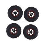 ホイールリム付き 1/10 RCバギータイヤ 10分の1 D90 SCX10 CC01 RC車に適合