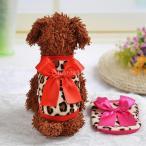 Baoblaze ペットの服 ヒョウ デザイン コーラル フリース 子犬 服 ペット ドレス ベスト 快適 全2色4サイズ選ぶ - 赤, 8#