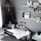 Dovewill コットン 蚊帳 天蓋カーテン モスキート ネット 遊ぶテント 子供部屋適用 黒い