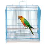小動物用ケージ 鳥かご オウム ハウス 折りたたみ式 飼育 スタンドスティック付 ランダムカラー