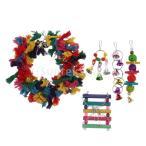小動物のおりの飾り鳥、ハムスターのためのカラフルなおもちゃセット