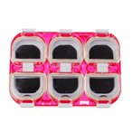 Dovewill  磁気 防水 耐衝撃 プラスチック 釣りフックボックス ランダムカラー