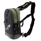 屋外 スポーツ 釣り袋 タックルバッグ ショルダーバッグ 多機能 調整可能 多目的 防水 耐用性 全4色 - アムリーグリーン